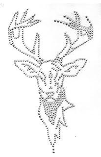 DIN A4 B/ügelbild aus Strass Ornamente 2 Ideen mit Herz B/ügelstrass-Design Strass-Applikation zum Aufb/ügeln