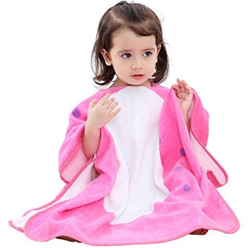 Bademantel Baby, Badetücher Kinder mit Kapuze Jungen Mädchen Poncho Schwimmen Decken Strandtücher 0-6 Jahre