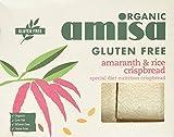 Amisa Org Rice & Amaranth Crispbread 150 g (order 12 for trade outer)