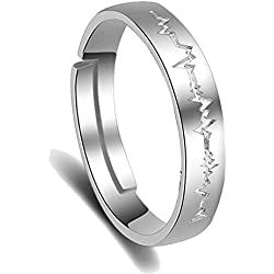 Karatcart Platinum Plated Elegant Adjustable Band Ring For Men
