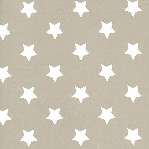 Toile cirée nappe Mètre Noël étoiles Motif Taille au choix dans Carré Rond Ovale (130 cm rond, m90353 de Taupe Gris)