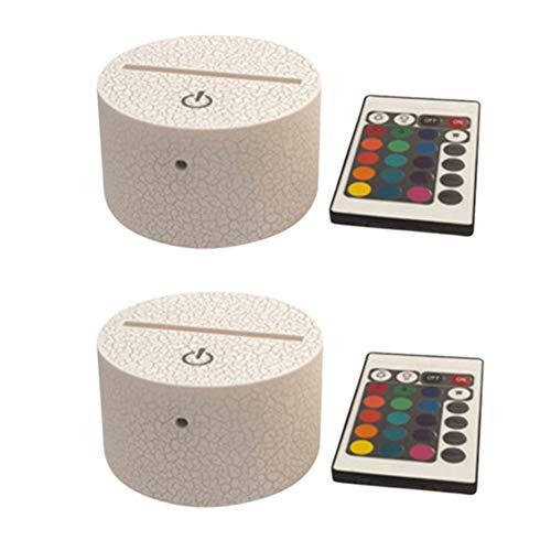 2er Pack 3D Eishockey Licht Nachtlicht Touch Sensor LED Tisch Schreibtischlampe, Dekor FüR Kinder Geburtstag (16 Farben)