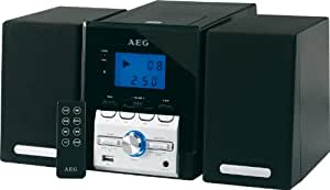 AEG MC 4443 Kompaktanlage (CD/MP3-Player, 100 Watt, USB 2.0) schwarz
