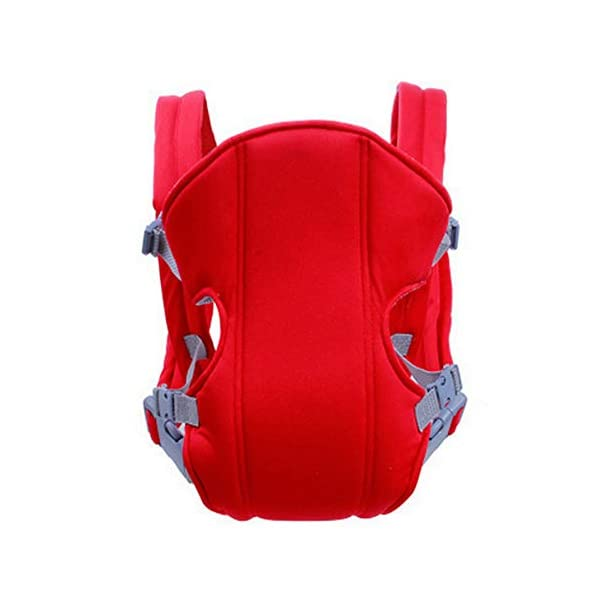 Kasstino Infant Front Facing Slings Breathable Pouch Wraps Carriers Backpacks Suspenders (Red) Kasstino A great way to carrying baby, keep kids close and safe at hands, in crowds, or during family outings Double layer at the bottom of the pad design more take care of the baby small buns Portable, breathable, folding, really practical. Easy to put on and take off 4
