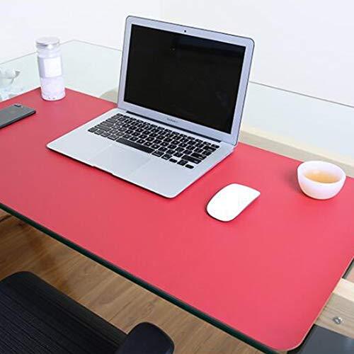Für die Schule Wr Multifunktions-Business-Doppelseitig PVC-Leder Mauspad Tastatur-Pad Tischmatte Computer-Schreibtisch-Matte, Größe: 80 x 40 cm (Schwarz Rot) (Farbe : Red+Yellow)