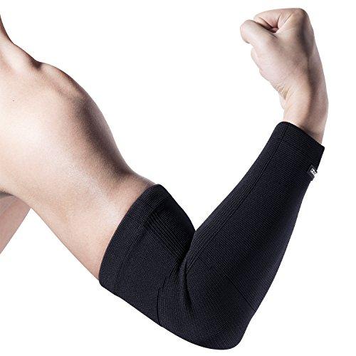 Schmerzen Im Ellbogen, Tennis-ellbogen ([Armstulpe] FREETOO Konpression unterarmbandage gestricktes Ellbogenbandage für Basketball Tennis und Badminton Arm Sleeve für Damen und Herren ist beide Arm gültig M)