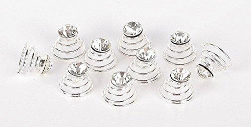 Amesbichler Mähnen Kristal Curly Set mit 10 Stück Mähnenwirbel Haarspirale Strass Mähnenband