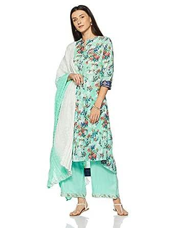 BIBA Women's Angrakha Salwar Suit Set
