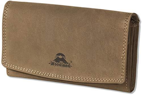 bfa96ad4e Woodland - Gran Lujo Señoras billetera de cuero hecha de, cuero natural  búfalo suave en