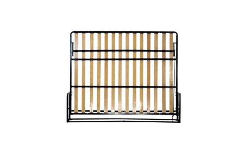 Wallbedking Classic WANDBETT (Quer) King Size 160×200 (Klappbett, Schrankbett, Gästebett, Funktionsbett) 160cm x 200cm - 3