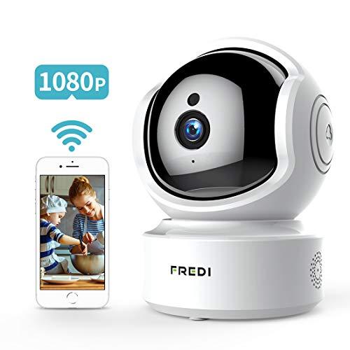 FREDI 1080P HD Telecamera Sorveglianza Wi fi Videocamera sorveglianza Wireless Wifi IP Camera...