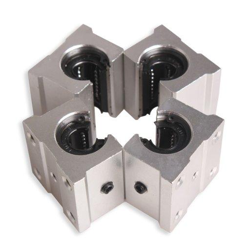 Preisvergleich Produktbild Tenflyer Packung mit 4 SBR12UU 12mm Aluminum Linear Motion-Router Lager Solide Block-New
