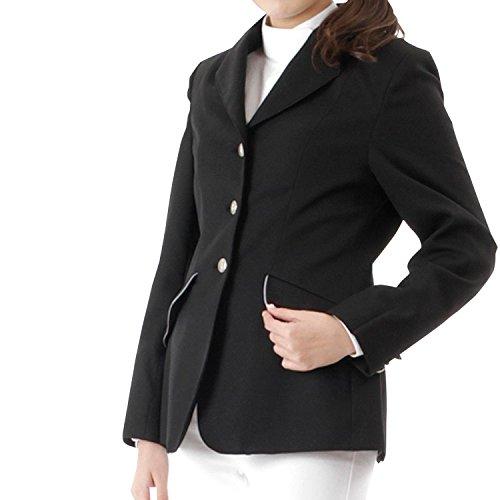 Damen Reitjacke, noir, col velours noir, doublure gris, 12 Jahre