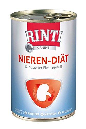 6 x 400g Dose Rinti Canine Nieren-Diät Finnern Nassfutter Nierendiät
