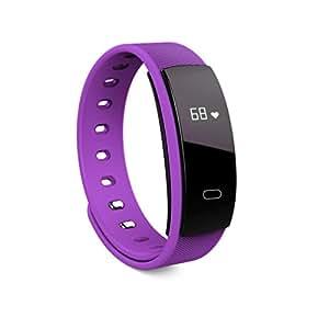 QS80 Puls Blut Sauerstoff Übung Gesundheit Smart Watch Armband Smart Uhr QS80 Puls Blut Sauerstoff Übungsschritt Wasserdichte Gesundheit Smart Uhr Armband Ladegerät Wristband HKFV (Lila)