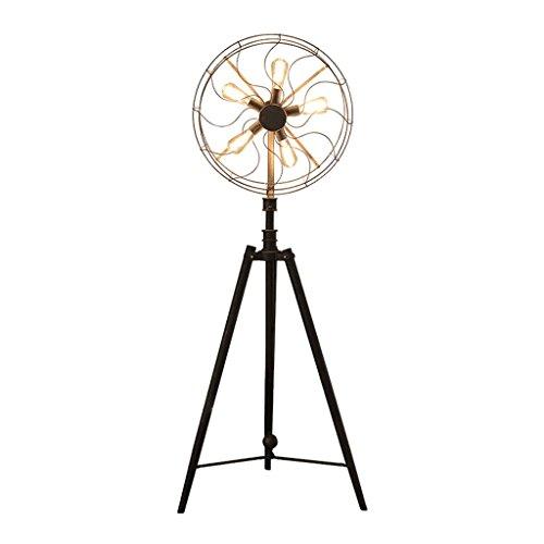 Style wei Ywyun Lámpara de pie Industrial Americana del Ventilador del Hierro...