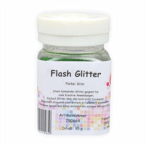 Creleo 790664Flash Glitter, 95g, Verde