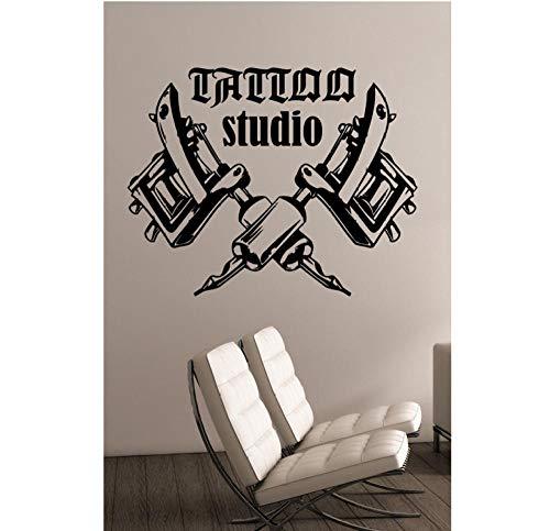 Küche Haushalt Tattoo Studio Logo Wandtattoo Tattoo Maschinen Vinyl Aufkleber Fensterdekorationen Tattoo Salon Room Decor Geschmack