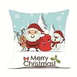 Riou Kissenbezuge Weihnachten Kissenhülle Dekokissen Throw Pillow Covers Bettwäsche Für Autos Sofakissen Startseite Dekorative Weihnachten Super Cashmere Sofa Kissenbezug Home Decor (mehrfarbig H, 45 x 45cm)