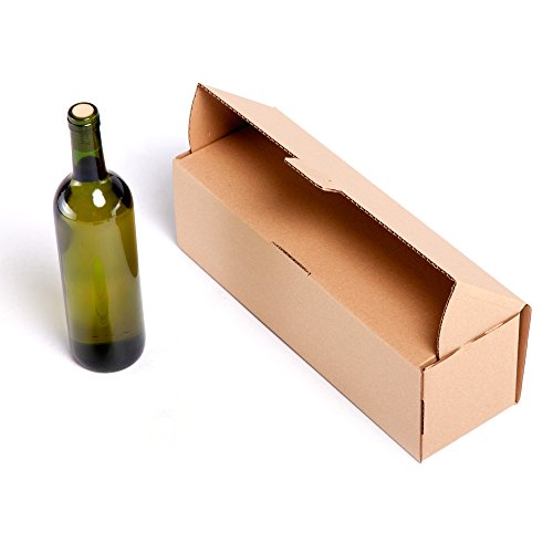 25x Caja 1 Botella cartón automontable envíos postales