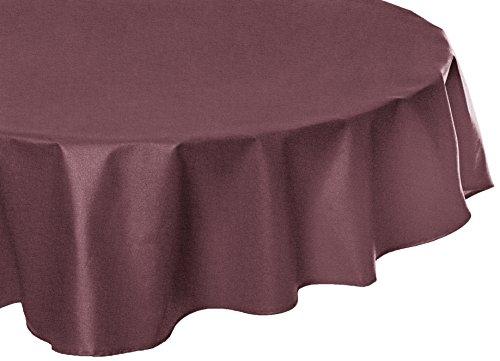 Fleur de soleil Nappe Ovale anti-tache imperméable 160x240cm Uni Prune coton enduit - sans solvant - sans phtalate - 100% fabrication française