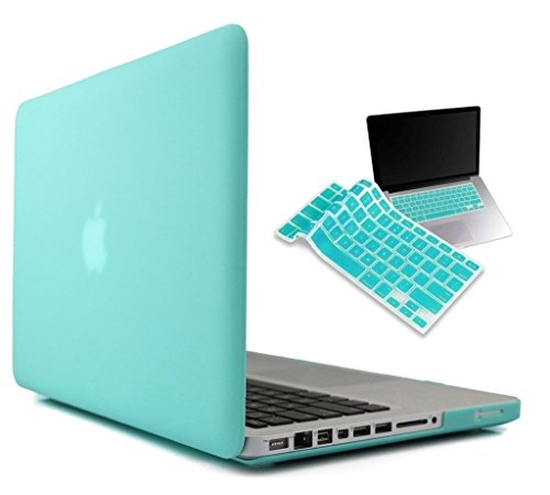 "For MacBook PRO 13"" 13-inch - Rubberized With Hard Shell Skin Case cover for MacBook Pro 13"" 13.3"" 13-inch Shell Cover Case + Get Silicone Keyboard Cover + 9pcs Dust plug +Touchpad Protector Free {Mint Green}(A1278)"