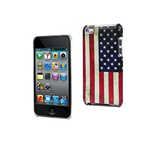 Muvit MUCMP0022 Coque Motif Drapeau Vieille USA + Film de Protection d'écran pour iPod Touch 4G Multicolore