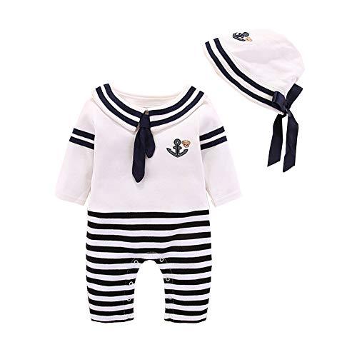 Fairy Baby Neugeborenes Unisex Seemann Strampler Baby Overall Kostüm Kleider Size 3M (Schwarz) (Seemann-kostüm Für Baby-jungen)