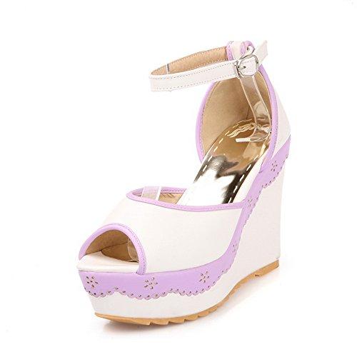 Silver Sparkle Flat Sandals (Adee , Damen Sandalen, Weiß - weiß - Größe: 35)