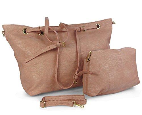753dd1667d34d Lovely Lauri Handtaschen Set Damen Tasche Shopper groß Etui Braun ...