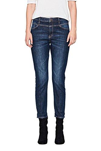 edc by ESPRIT Damen Boyfriend Jeans 107CC1B007 Blau (Blue Medium Wash 902), W30/L32