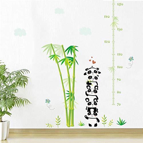 Höhenmessung Wandaufkleber,Cartoon Tiere Panda Pflanze Bambus Höhe Wand Aufkleber Für Kinder Zimmer Wachstumsdiagramm Wand Cute Aufkleber Poster Kunst Wandbild Kindergarten Klassenzimmer Aufkle (Panda-bambus-pflanze)