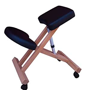 Sedia ergonomica g3k nera sgabello con ruote per casa o for Sedia ergonomica
