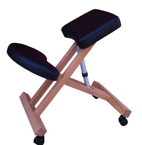 Sedia ergonomica g3k nera sgabello con ruote per casa o ufficio