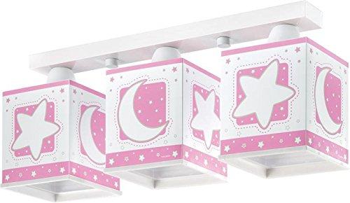 terne Mond Decken-Lampe 63233s mit LED dimmbar warmweiß 1000lm Nacht-Leuchtend Rosa Mädchen (Nacht Unter Den Sternen-dekorationen)