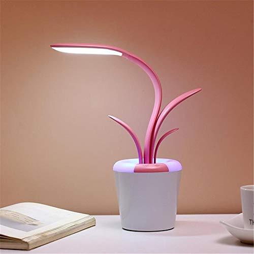 Usb Led Leselampe Tischlampe Clivia Schreibtischlampe Augenpflege Drei Ebenen Helligkeit Arm Licht Schlafzimmerlampe Rosa 35 * 10 * 7,5 Cm