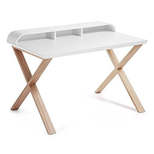 Kave Home - Working Schreibtisch weiß und esche -
