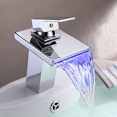 ddlli bagno rubinetti per lavandino rubinetto cucina rubinetto bagno rubinetto multi color led Cascata Lavandino rubinetto rubinetto per bagno, Tor Eira para de banh eiro MONOCOM Ando, Bronzo