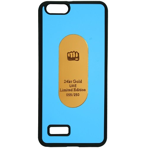 Casotec Metal Back TPU Back Case Cover for Micromax Canvas Hue AQ5000 - Sky Blue  available at amazon for Rs.99
