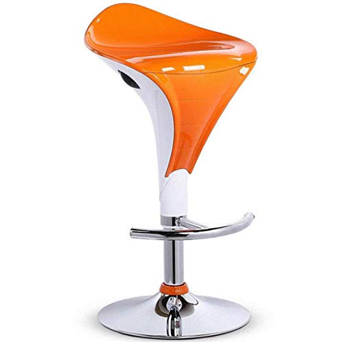 Adoudou 360 ° rotierende Bar Stool Modern Minimalist High Stool Bar Tisch und Chairs Home Lift Chair High Bar Hocker Stool für Cafe Kitchen Bar,orange