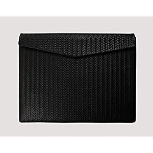 Ledertasche Macbook (12 Zoll) Braid Paperbag in schwarz
