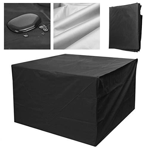 QEUhang strapazierfähige 210D Oxford Stoff Terrasse Garten Outdoor Möbel Abdeckung Anti-UV Staubdicht Winddicht Wasserdicht Tisch- und Stuhlschutz -