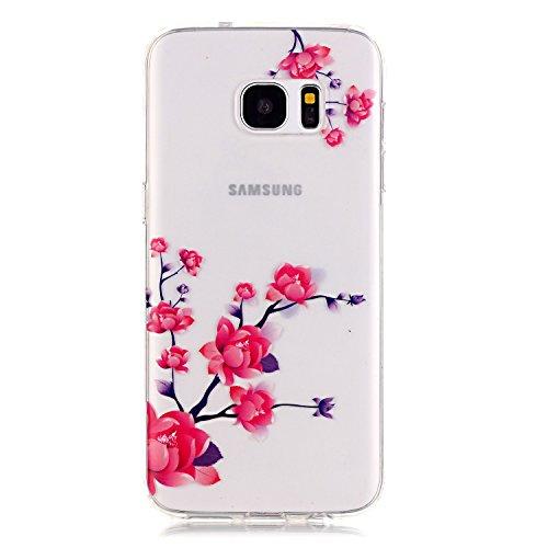 Sunroyal® Custodia per Samsung Galaxy S6 Edge G9250 SM-G925 Protettiva Cover Universale di Ultra Sottile TPU Morbido Antigraffio Trasparente Cristallo Chiaro e Shock-Absorption Bumper Case Posteriore  Modello 06