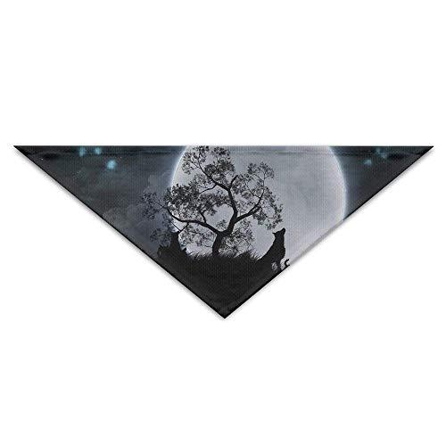Hunde Kostüm Geschenk Verkauf Zum Tragen - Gxdchfj Pet Triangle Banna Moon Wolf Funny Art Washable Dog Puppy Scarf Bib Babys Neckerchief Accessories