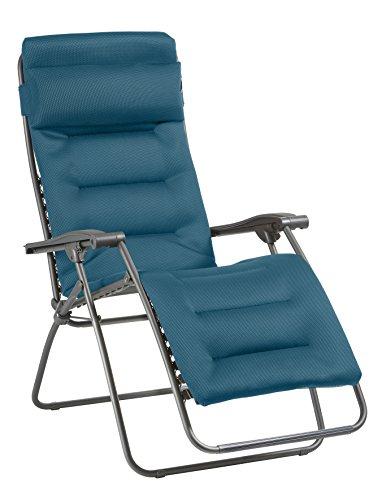 Lafuma Fauteuil Relax, Pliable et réglable, RSX Clip, Air Comfort, Couleur: Coral Blue, LFM2038-8721
