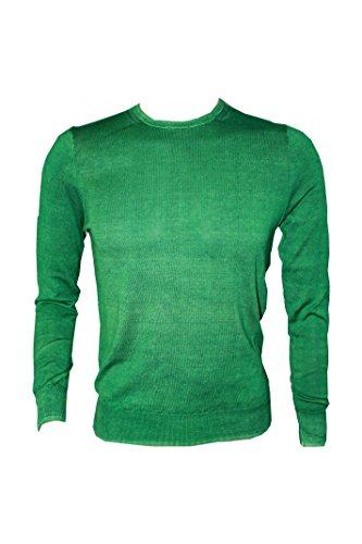 Paolo Pecora Girocollo Vintage Verde Uomo Size S