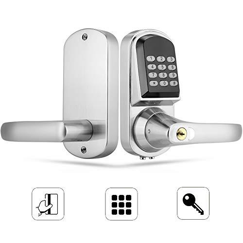 Elektronisches türschloss, Intelligentes Digitales Türschloss, Passwort/mechanischer Schlüssel/RFID-Karte Türschloss Diebstahlsicherung für Zuhause, Büros, Hotels, Apartments