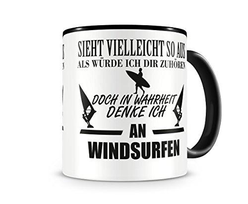 Ich denke an Windsurfen Tasse Kaffeetasse Teetasse Kaffeepott Kaffeebecher Becher