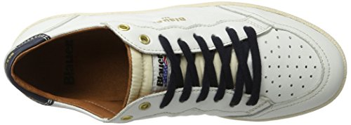Blauer USA Retro, Baskets Basses Homme Blanc