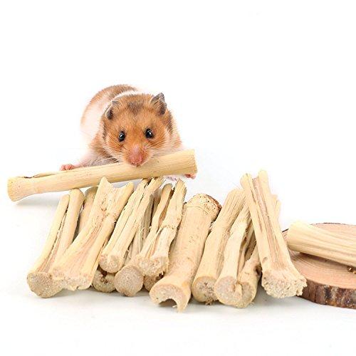 Hypeety Natur Sweet Bambus Kauspielzeug klein Animal Snacks für Hamster, Meerschweinchen, Chinchilla, Eichhörnchen, Kaninchen, Parrot Pet Snacks behandeln